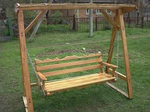 Продам деревянную качелю, материал дуб и акация