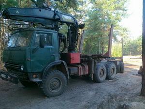 Лесовоз с манипулятором КАМАЗ 43101