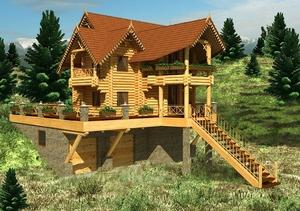 Деревяные дома, котеджи