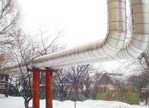 Негорючая изоляция для труб   ФРП-1 , диаметр трубы 57-1020 мм