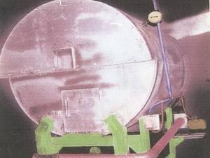 Котел с  воздушным  поддувом  для  сжигания  твердого  топлива