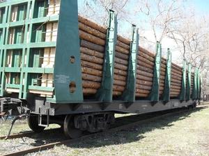 Железнодорожные платформы для леса и пиломатериалов