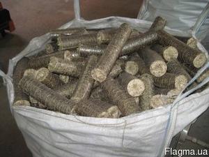 Топливные брикеты из костры льна Nestro