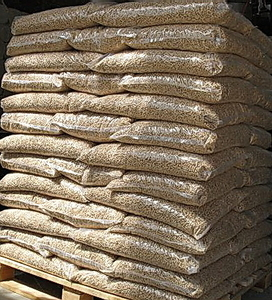 Пеллета древесная 8мм, 15 кг мешок, EXW