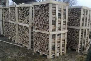 Свежие дрова дубовые, 28 см, в ящиках  в 2 ПМ