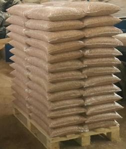 Древесная гранула из сосны, 6мм. 15 кг мешки, EXW