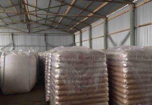 Древесная пеллета 6 мм, 500 т в мес, 15 кг мешок, FCA