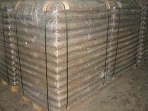 Древесная пеллета 8мм, 15 кг мешок