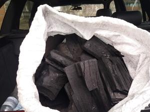 Древесный уголь из твердых пород (береза, дуб, ясень)