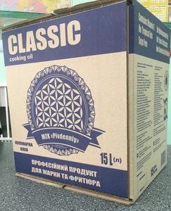 Масло подсолнечное для жарки и фритюра в 15 лит. bag in box